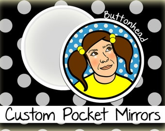 25 Personalized Mirrors Custom Made 2.25 Inch Round