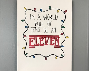 STRANGER THINGS Hand-painted Canvas - Eleven