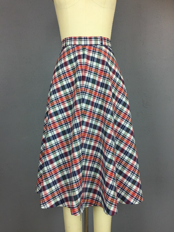Red White and Blue Light Weight Skirt