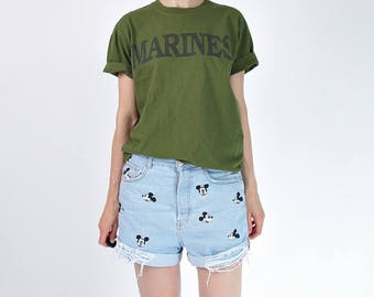 SALE 40% OFF Vintage Marines army t-shirt
