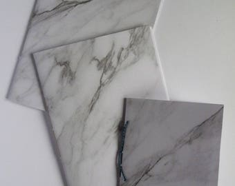 Notebook set, small notebooks, marble paper, pocket books, set of 3, blank books, Marble notebook