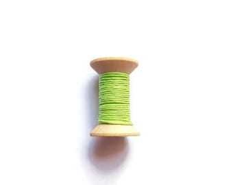 Lime green waxed cotton threads