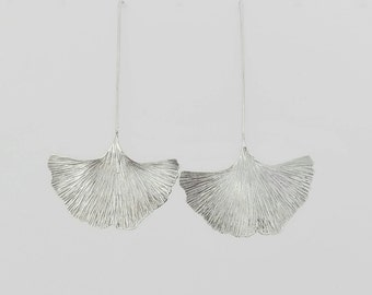 GINKGO EARRINGS-Sterling Silver | GINKGO Earrings-Sterling Silver