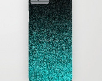 Aqua & Black Glit Gradient Phone Case 18 Styles Available! - iPhone, iPod, and Samsung Galaxy!