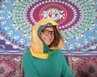 This reversible cowl hood is just what you need for those jackets, sweaters, vests, etc. that just don't have a hood.