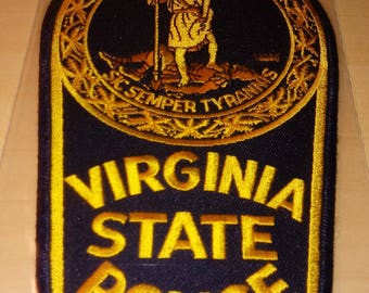 Very Large VIRGINIA STATE POLICE Unused Patch