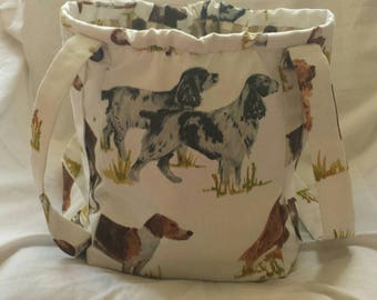 Sale.Beautiful Dogs Feature on this Vegan, Handmade Shoulder Bag.