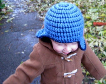 Crochet Pattern for Earflap Hat - Baby Toddler & Childrens Sizes PDF