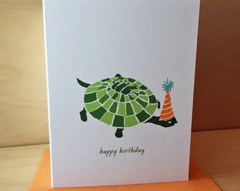 Turtle Happy Birthday Card