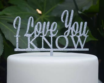 I love you I know - Star Wars Inspired Cake Topper - Wedding Engagement Cake Topper