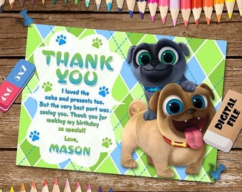 ON SALE 30% Puppy Dog Pals Thank You Card. Puppy Dog Pals Thank You Note. Puppy Dog Pals Digital Thank You Card. Puppy Dog Pals Printable.