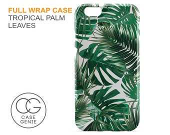Tropical Palm Leaves Case for iPhone X 8 PLUS 7 6 6s 5 5s 5c SE  Samsung Galaxy S9 S8 S7 S6 Edge S5 Banana Leaf Jungle TL1