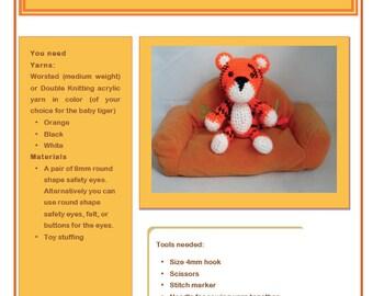 PDF Amigurumi Pattern: Baby Tiger