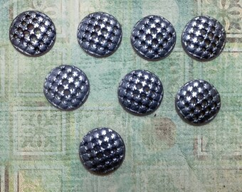 Metal Shank Buttons - Antiqued Silver Finished Metal Buttons - Hatchwork Buttons Sewing Buttons Jewelry Supplies - B143