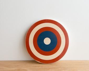 Target Circle Art Block - Red/White/Blue, Captain America shield, archery target, bull's eye, colorway #20