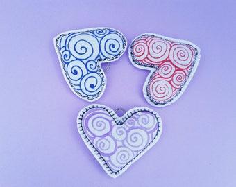 Lavender Heart Wedding Favors, Heart Sachet, Valentine Day, Lavender Heart bag