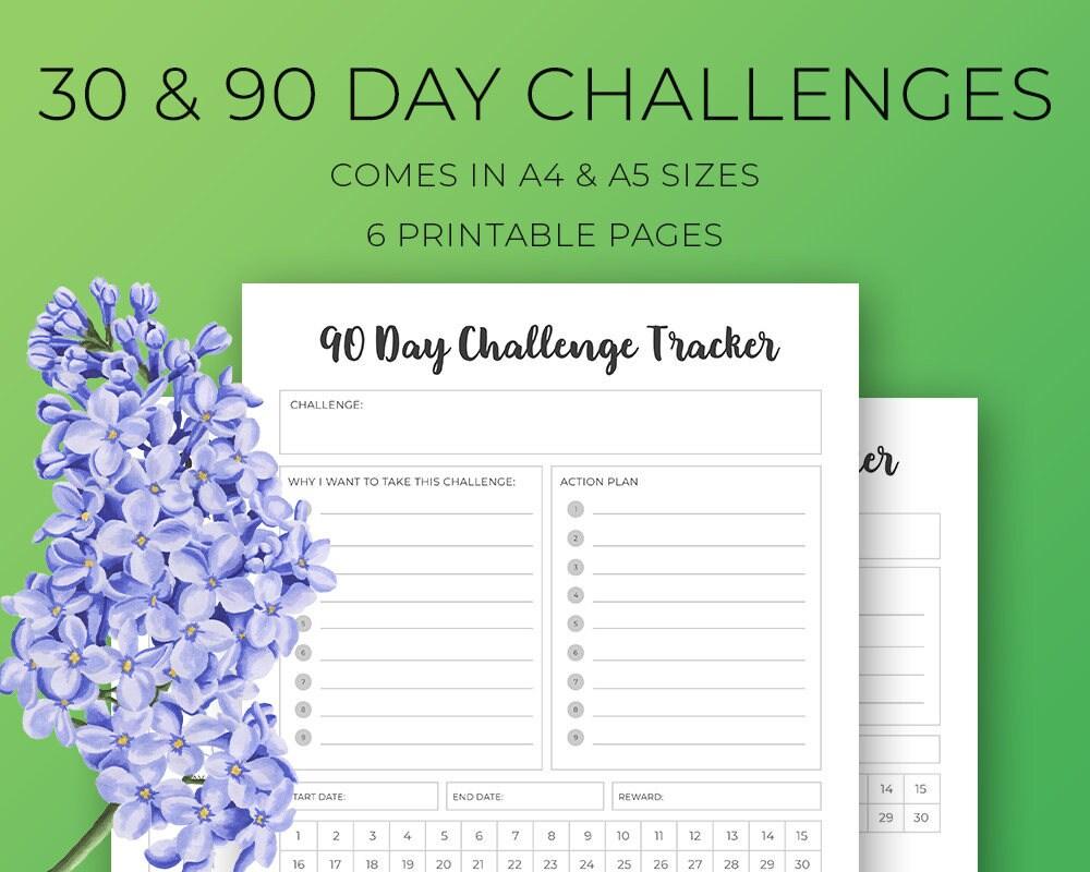 30 Day Challenge 90 Day Challenge planner inserts