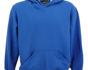 Men's hooded sweatshirt royal blue, hoodie - J804
