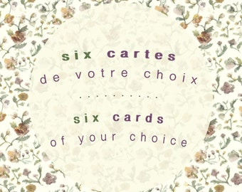 Six greeting cards | Six for the price of five | Blank Cards | All occasion Cards