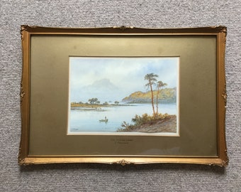 F Pearson watercolour, The English Lakes watercolour, watercolour 1920, framed watercolour of English Lake District