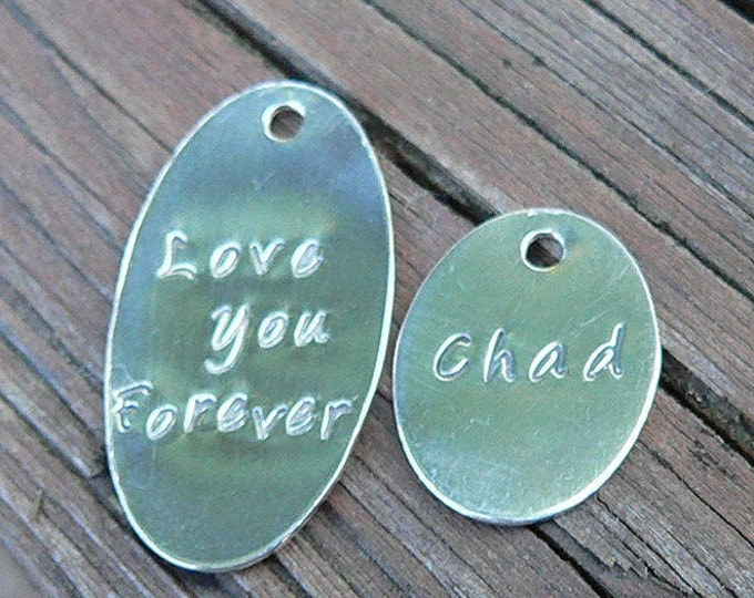 Add a Large Oval Tag to Your Birth Designs Necklace