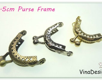 Small 3.5cm Purse Frame Half Round Gold Purse Frame Bronze Purse Frame Silver Glue On Purse Frame Sew On Purse Frame Antique Purse Frame