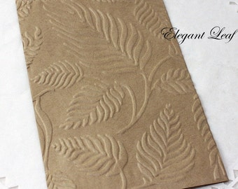 25 Leaf Embossed Paper Bags, Glassine Bags, Wedding Favor Bags, Candy Bags, Cookie Bags, Silverware Bags, Confetti Bags, Party Favor Bags