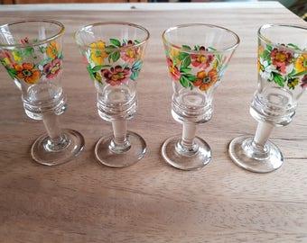 French liqueur-digestive-liquor - vintage shot glass