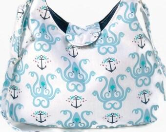 Octopus Purse - Nautical Purse - Everyday Bag - Cross Body Bag - Sling Bag - Cross Body Hobo Bag - Crossbody Bag - Cross Body Purse