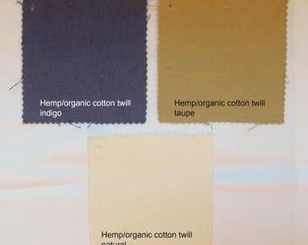 Joy2 Fabric Samples by NikkiDesigns, Hemp, Organic Cotton