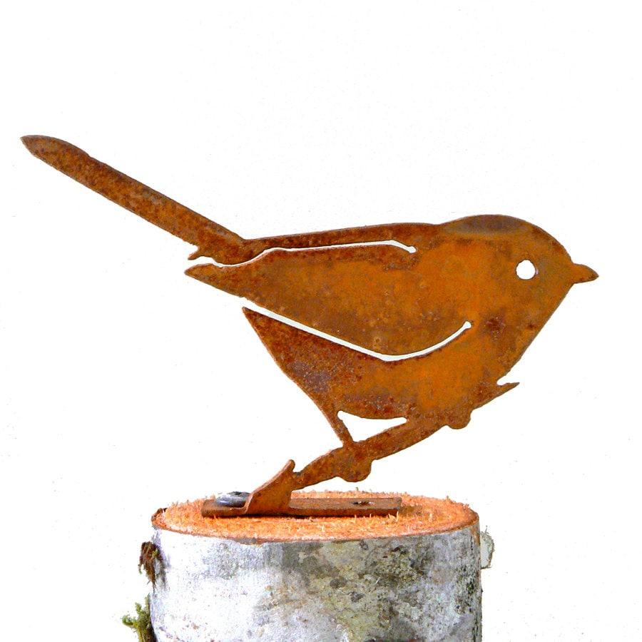 Bushtit Steel Silhouette | Metal Bird Garden Art | Bird ...