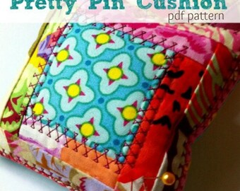 Pincushion Pattern- Sewing Pattern Instant Download Perfect for Scraps