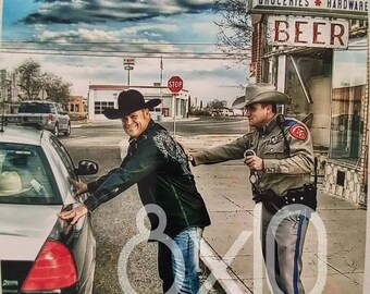 """Hub Reynolds Jr. Country Music Artist 8x10 autographed photo- """"Caught having too much fun """"!"""