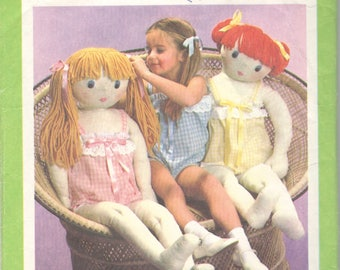 1970s Simplicity 8967 Childs Camisole and Doll Pattern Life Size 41 Inches Tall Vintage Soft Toy Rag Doll Sewing Pattern