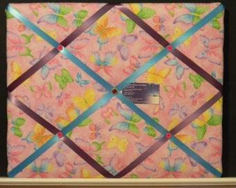SALE** 16 x 20 Pink Butterfly Memory Board **SALE**