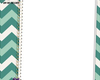 Digital Blank Spiral Notebook Paper for Digital Planners