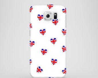 Union Jack Hearts iPhone X case / cute iPhone 8 case / iPhone 7 Plus case / iPhone 6, 6S, SE, 5, Samsung Galaxy S7, Samsung S6, S6 Edge, S5