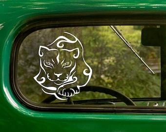 Tribal Cat Decal, Cat Decal, Vinyl Sticker, Cat Sticker, Tribal, Laptop Sticker, Vinyl Decal