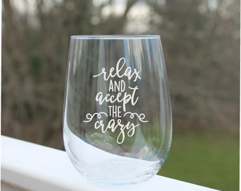 stemless wine glasses, Wine Glasses, etched wine glass, wine glass with quote, funny wine Glasses, Etched - 17oz, stemless wine glass etched