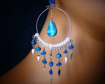 Large Hoop earrings hoop earrings silver hoop earrings big hoop earrings large hoops silver hoops earrings silver earrings boho earrings
