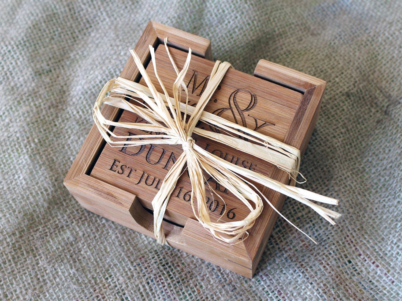Personalized Coasters Wedding Gift: Custom Coasters Wedding Gift Personalized Coasters Custom