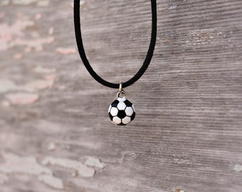 Soccer Ball Necklace, Soccer Jewelry, Soccer Ball Charm Necklace, Soccer Player, Soccer Gift, Soccer Lover, Soccer Team Necklace, Soccer
