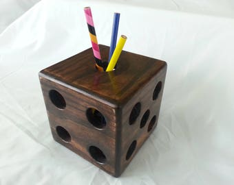 Six_sided Dice Pencil Holder