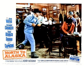 "Lobby Card From the Film ""North to Alaska"" Starring John Wayne (Reproduction) - 8X10 or 11X14 Photo (MP-002)"