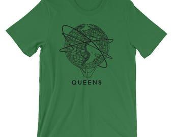 Queens Flushing New York Unisphere Short-Sleeve Unisex T-Shirt