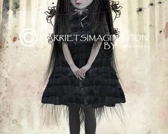 Creepy cute | Gothic lolita and spiders | Wall Decor | Spider art | Home decor | Creepy cute | Gothic lolita | Arachnophilia
