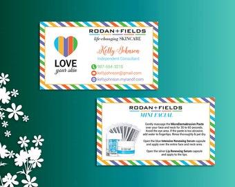 Rodan and Fields Mini Facial Card ft. Intensive Renewing Serum, Rodan and Fields Give it a Glow, Rodan and Fields Business Cards RF02