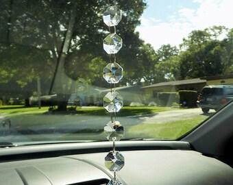 Clear Teardrop Crystal Prism, Crystal Rearview Mirror, Car Charm, Window Decoration, Suncatcher, Light Catcher