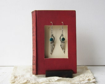 Book Earring Display - Recycled Shadowbox Style Display - Red - Craft Show Display - Quantities Ready to Ship