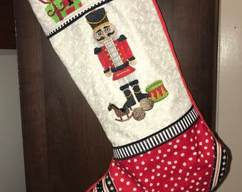 Handsome Nutcracker Christmas Stocking -- masculine, personalized, custom made, unique